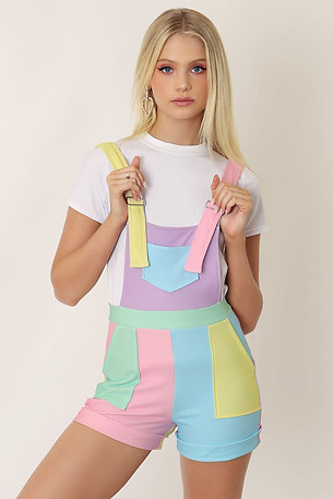 Paint by numbers short overalls