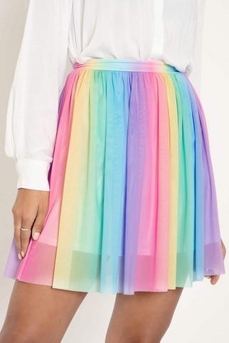 Rainbow Icecream Sheer Twirl Skirt