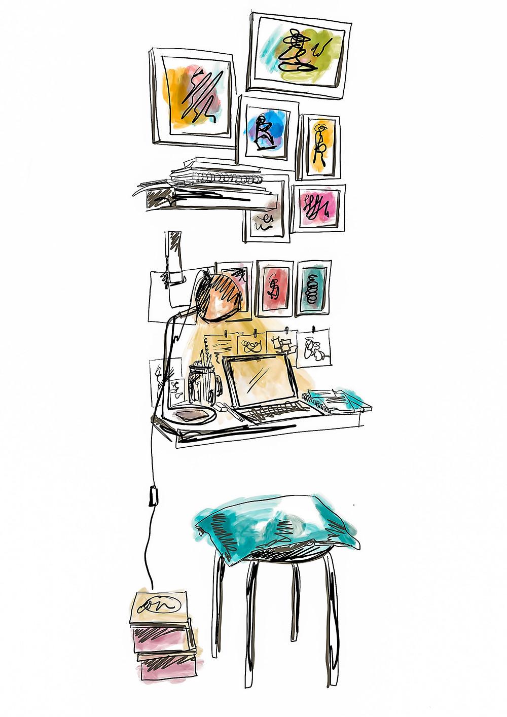 Leanne Coelho Desk Illustration