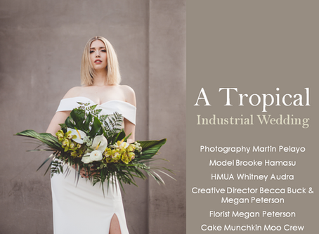 PQs A Tropical... Industrial Wedding