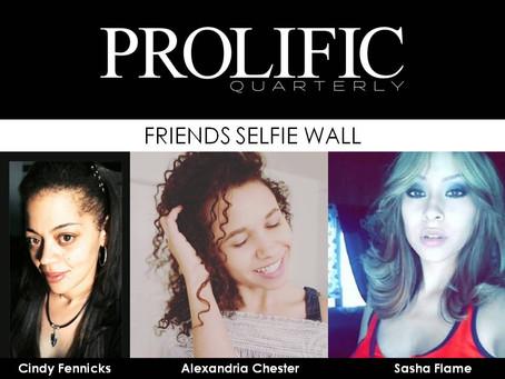 PQs Friends Selfie Wall
