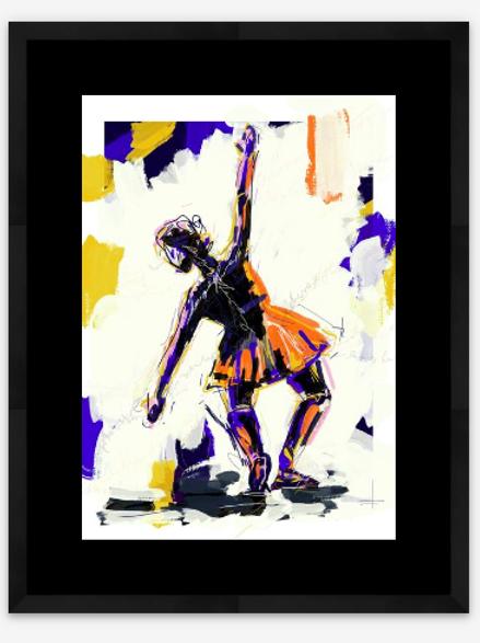 dancer on blue - artist print