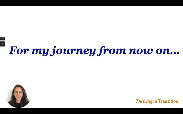 Thriving in Transition - Packing for the Journey