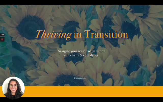 Thriving in Transition - 1:3:5 Goal Setting