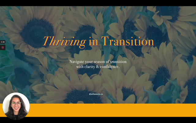 Thriving in Transition - (Self) Observation Challenge