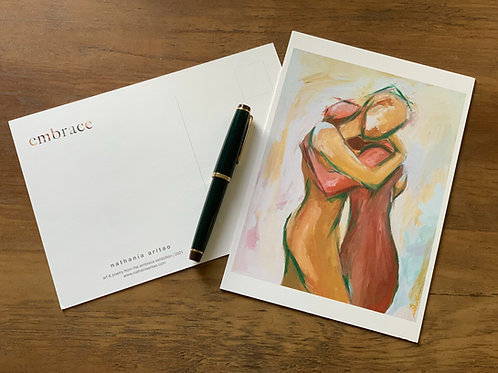 postcards, set of 3 or 12 - embrace exhibition