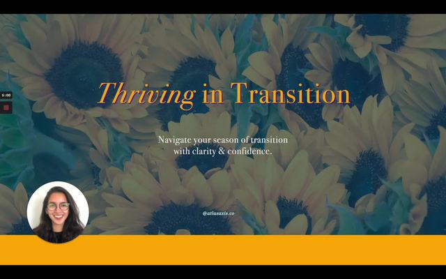 Thriving in Transition - Iceberg Model