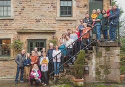 Large family portrait Derbyshire