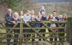 Large group family photo Derbyshire