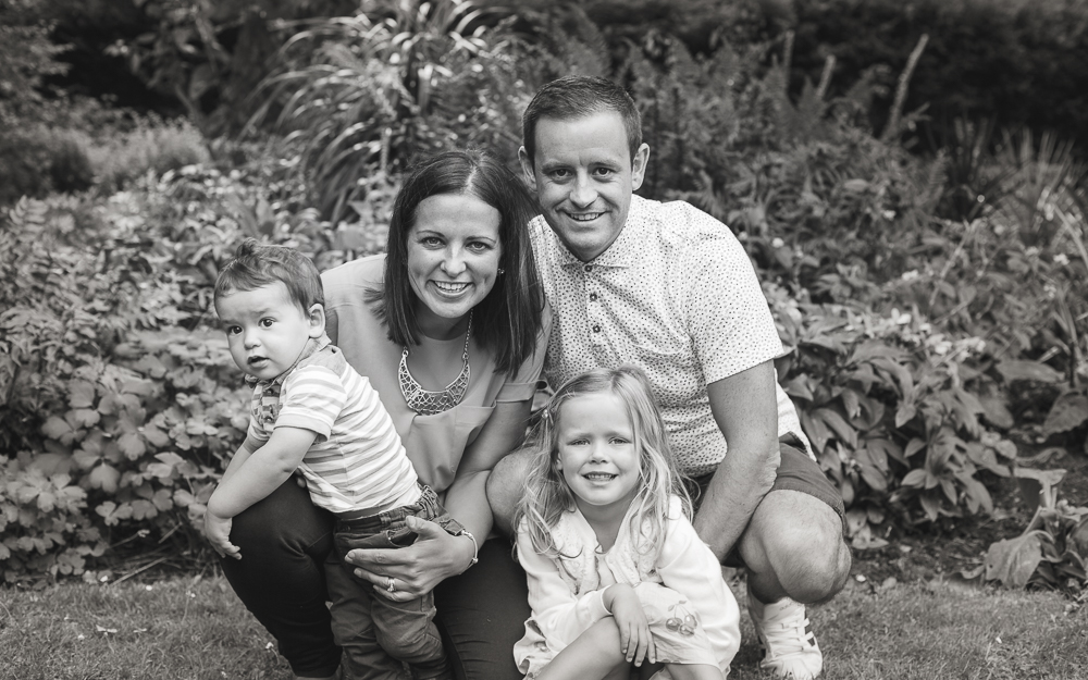 Photo of a young family with their 2