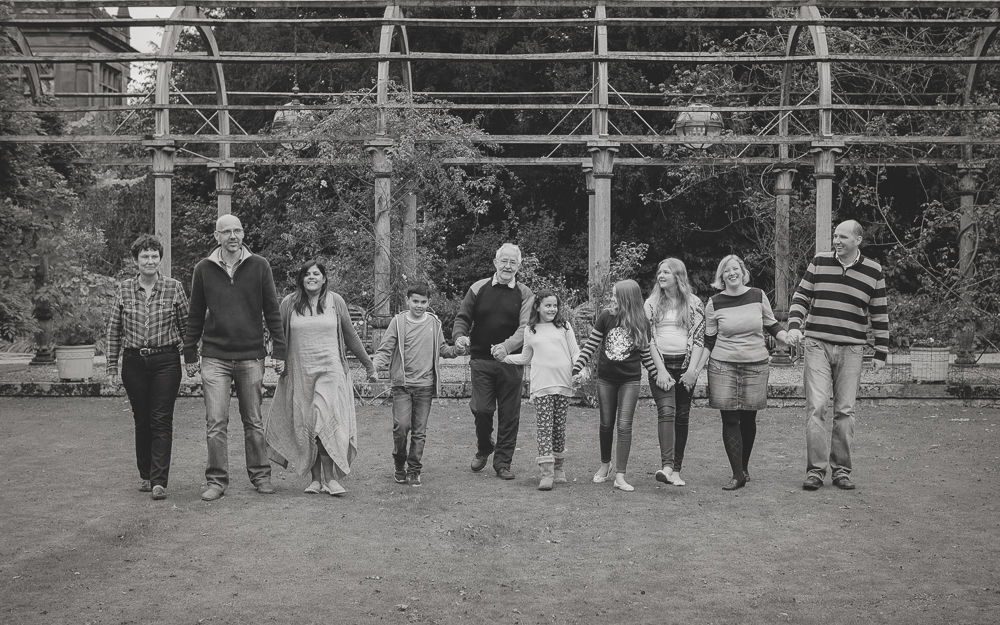 Family group photo at Hassop Hall