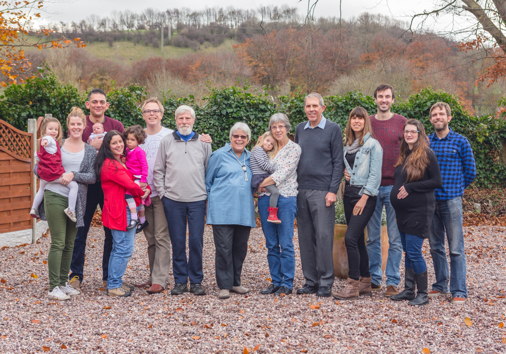 Large family group portrait Derbyshi