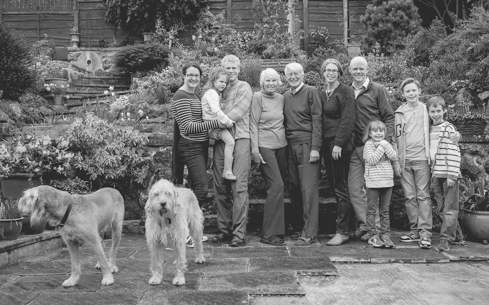 Large family group photo Bakewell