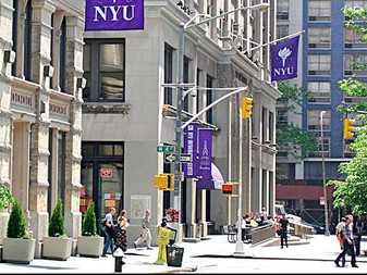 Inside the NYU admissions office.