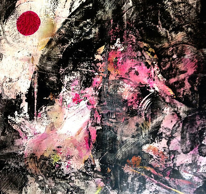 Rosa Delfin   surreal abstrakte Malerei