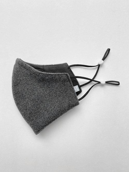 Charcoal Wool Reversible Mask