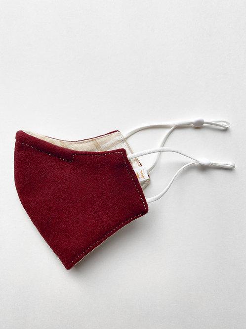Crimson Wool Reversible Mask