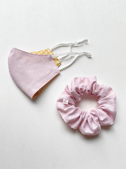 Dusty Pink Mask & Scrunchie