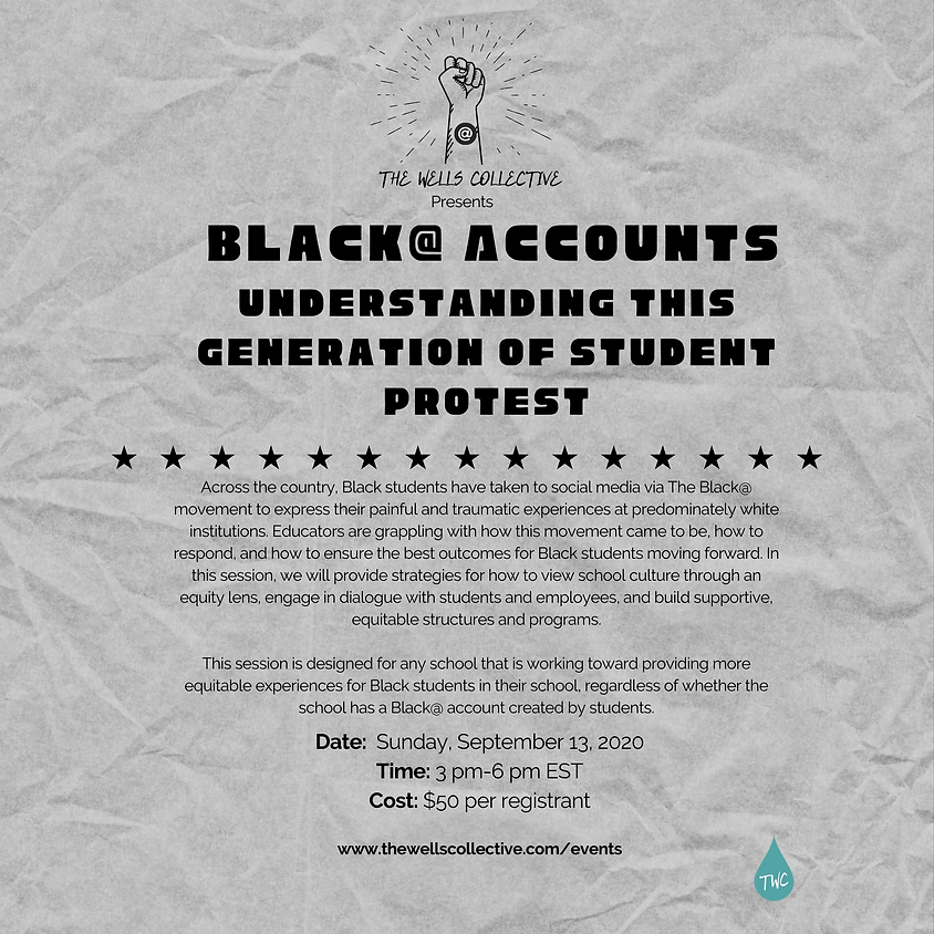 September Black @ Accounts: Understanding this generation of student protest
