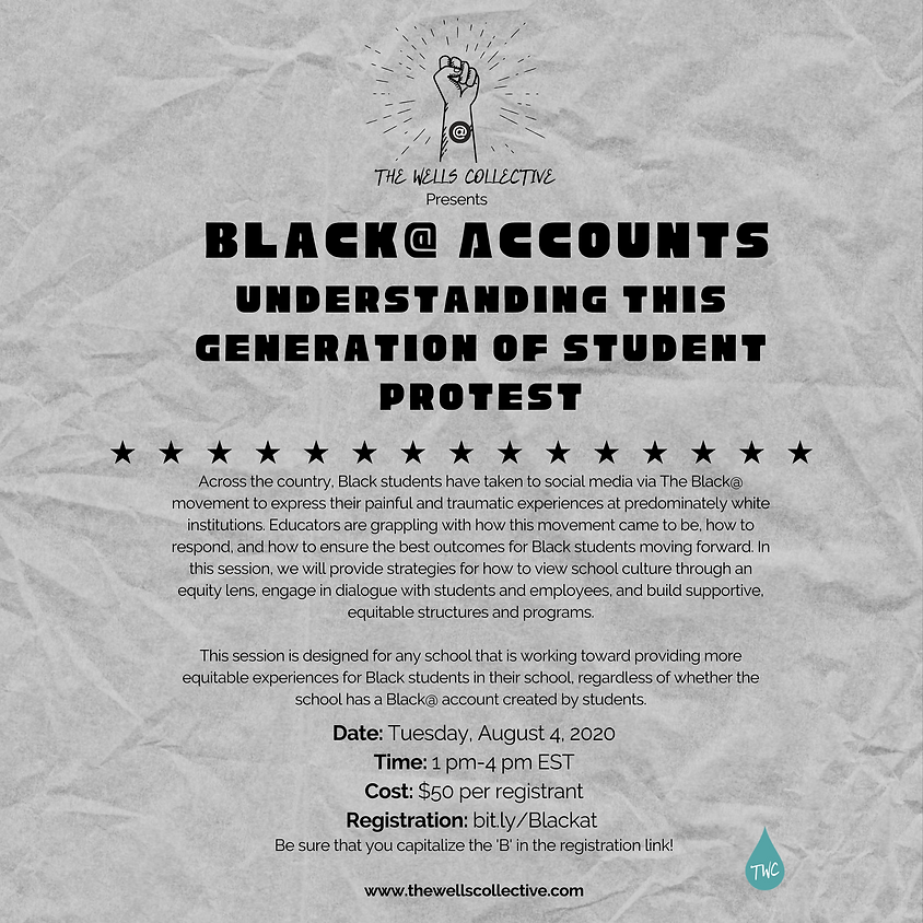 Black @ Accounts: Understanding this generation of student protest