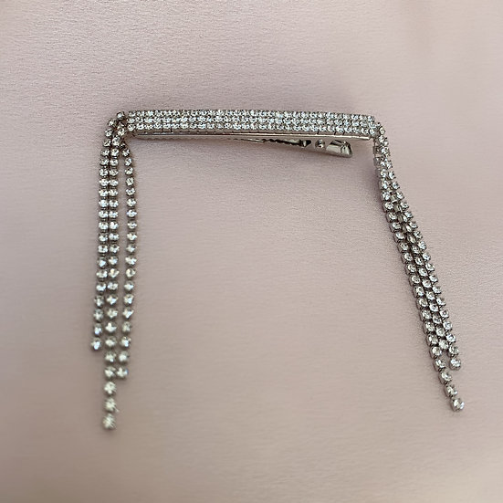 Silver waterfall clip