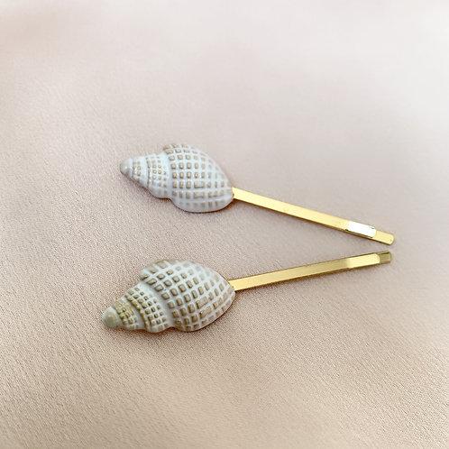 Sand sea shell clips