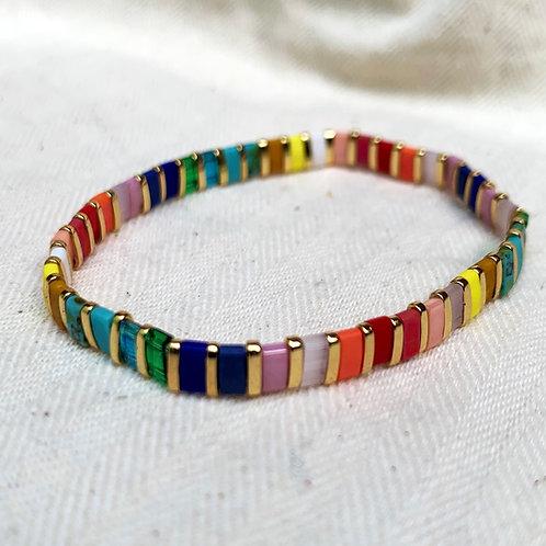 Rainbow & Gold Luxe Bracelet