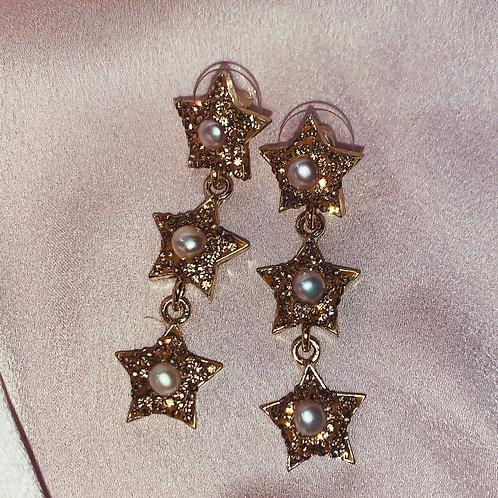 Stella Drop Earrings - Bronze