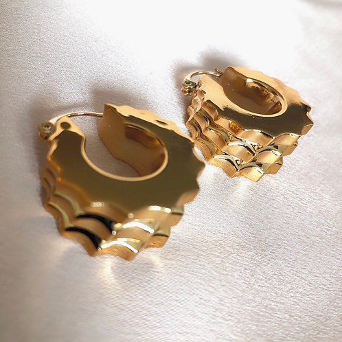 Rivit Gold Thick Hoops
