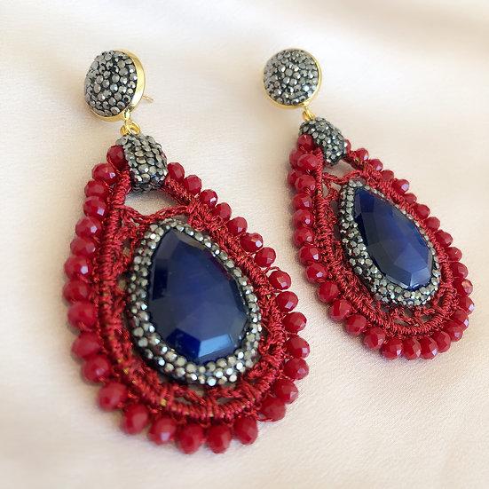 Venice Earrings - Red