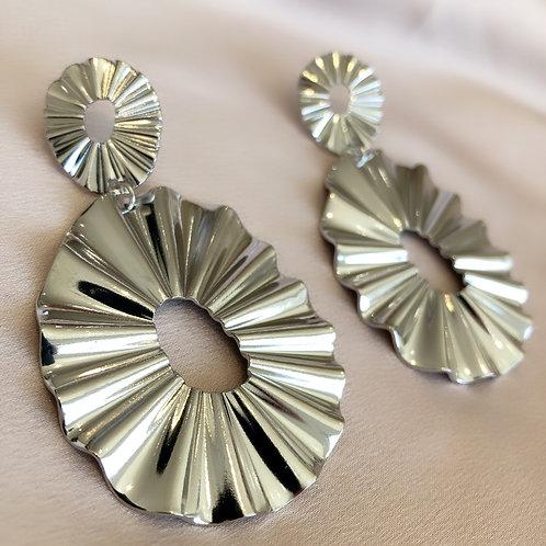 Sun Downer Earrings - Silver