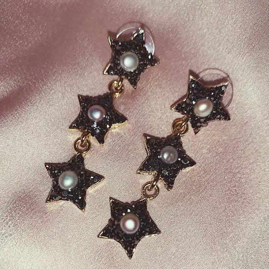 Stella Drop Earrings - Grey