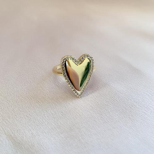 Polo Heart Ring - Gold