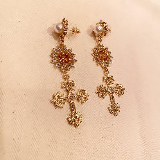Levi cross earrings