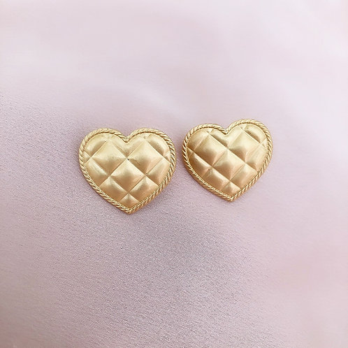 Quilted CeeCee Hearts Earrings