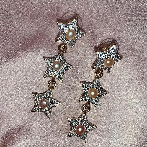 Stella Drop Earrings - White