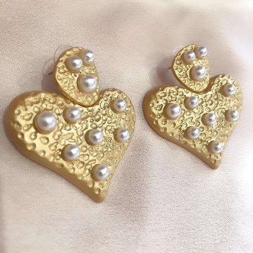 Retro Heart Earrings