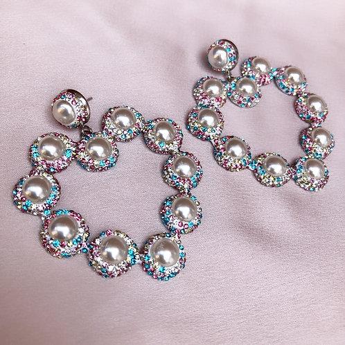Claudia's Hearts Earrings - Rainbow
