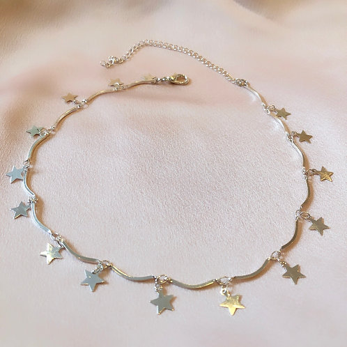Light Silver Star Choker