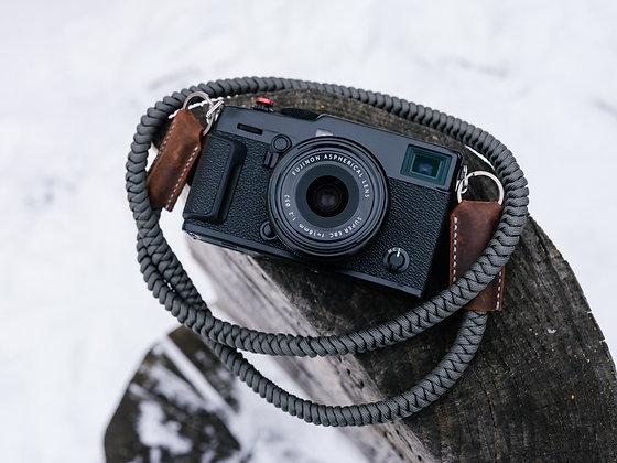 Leather & Titanium Accent Camera Strap