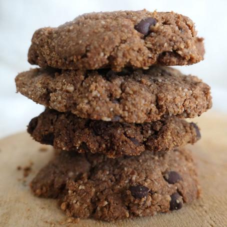 Cookies caroube & cacahuètes