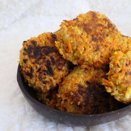 Boulettes de légumes de saison & quinoa