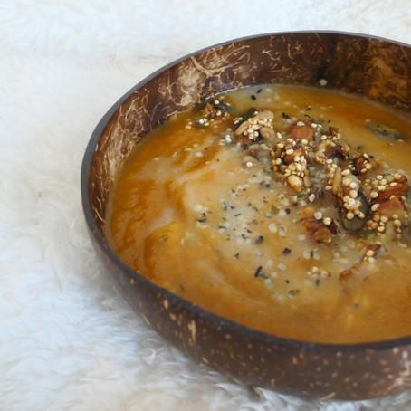 Velouté navet boule d'or & carottes