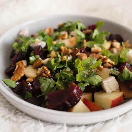 Salade Betteraves/pomme/feta/noix