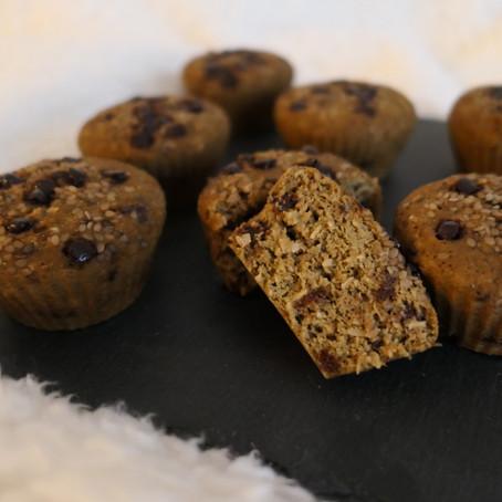 Muffins coco/matcha/choco & sésame.