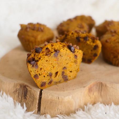 Muffins potimarron, choco & noisettes