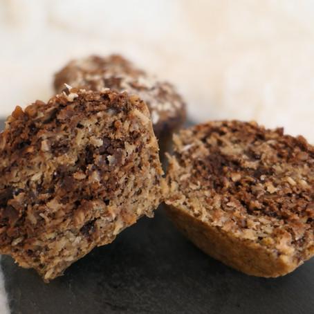 Muffins marbrés banane, choco & coco
