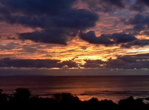 ソル・エ・マールから眺める夕陽イメージ