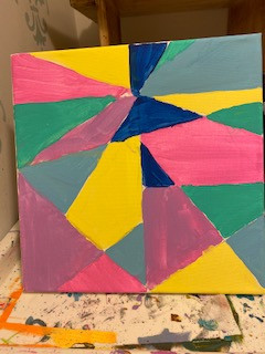 Bright geometric patterns