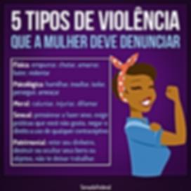 Violência contra a mulher deve ser denunciado!